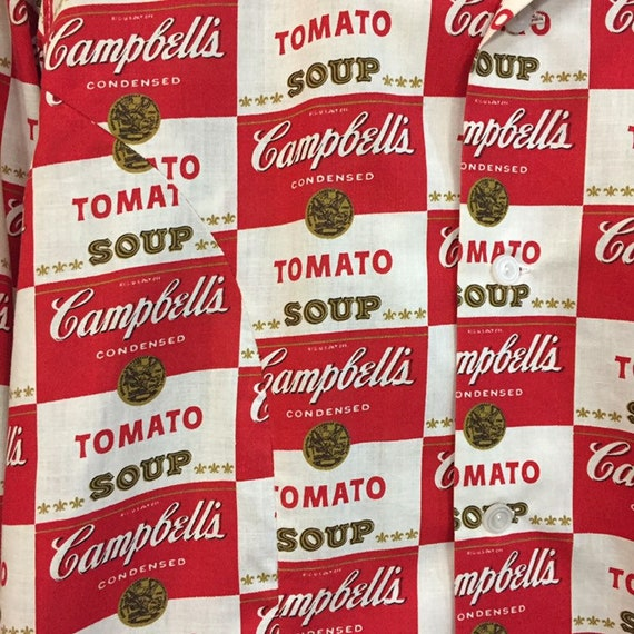 Vintage 1960's Campbell's Soup Pop Art Shirt Warh… - image 7