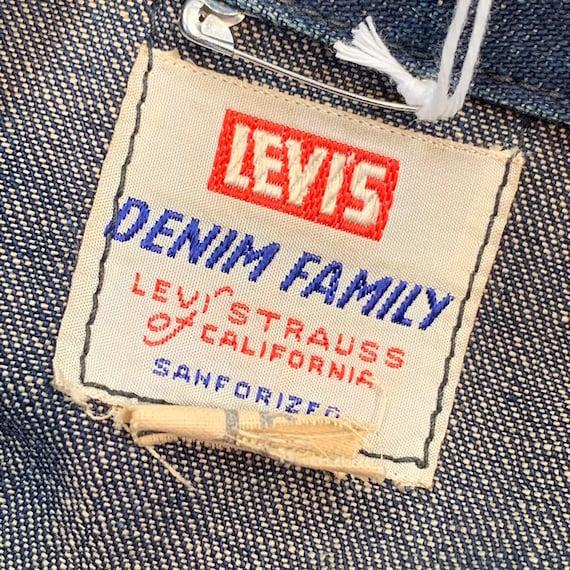 Vintage 1950's Levi's Studded Denim Shirt Jacket,… - image 5