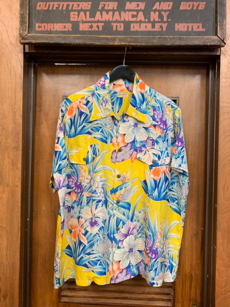 Avanti Hawaiian Shirt Silk 1940/'s,1950/'s Tiki Rockabilly  Vintage Style Sale
