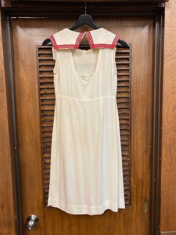 Vintage 1930's White Nautical Navy Sailor Tennis … - image 10