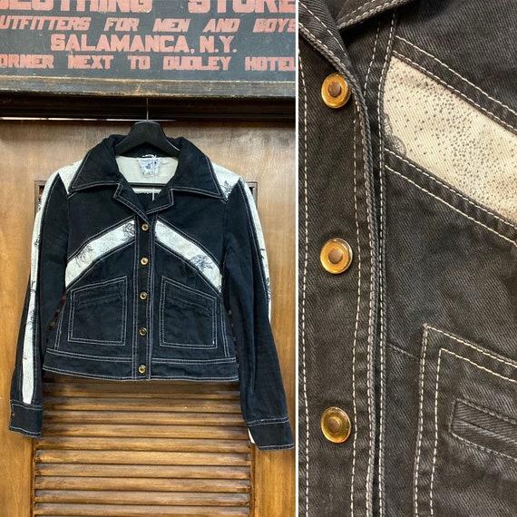 """Vintage 1970's """"Roncelli"""" Denim Jacket, 70's Denim"""
