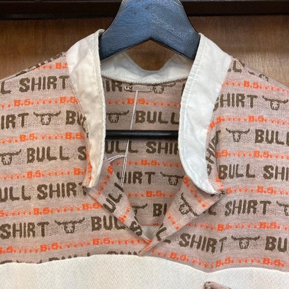 Vintage 1960's Bull Shirt Pop Art Top, 60's Top, … - image 6