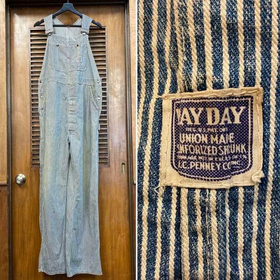 """Vintage 1940's """"Pay Day"""" Hickory Stripe Workwear … - image 1"""