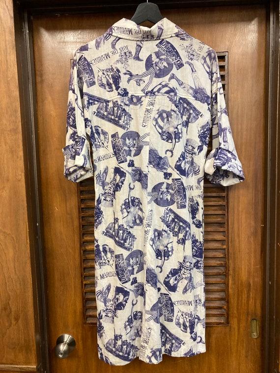 Vintage 1960s Pop Art Print Patriotic Dress, Vint… - image 9