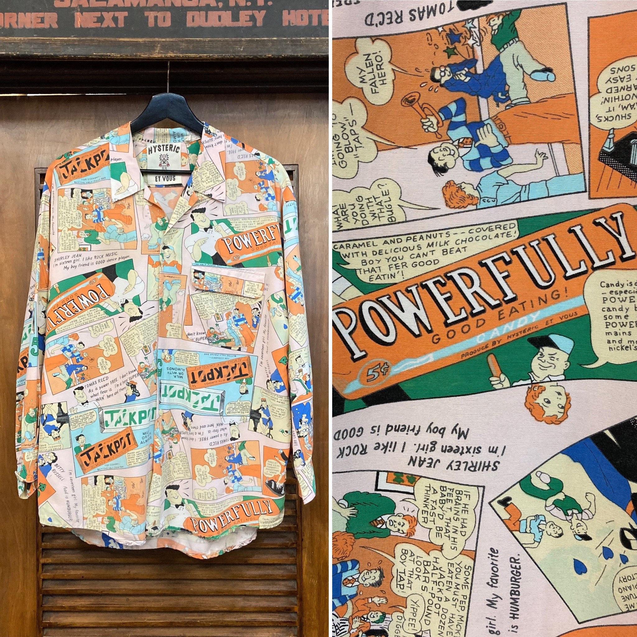80s Tops, Shirts, T-shirts, Blouse   90s T-shirts Vintage 1980s Comic Book Cartoon Print New Wave Shirt, 80s Print, Comix, Style, Clothing $250.00 AT vintagedancer.com