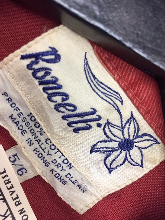 Vintage 1960's Roncelli Label Train Pattern Glam … - image 7