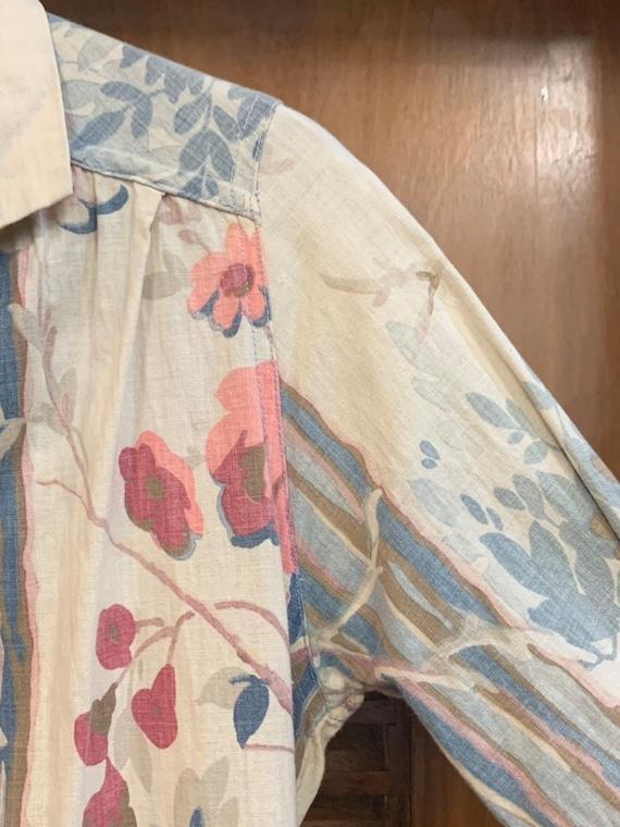 Vintage 1930's Floral Cotton Duster Coat, Vintage… - image 4