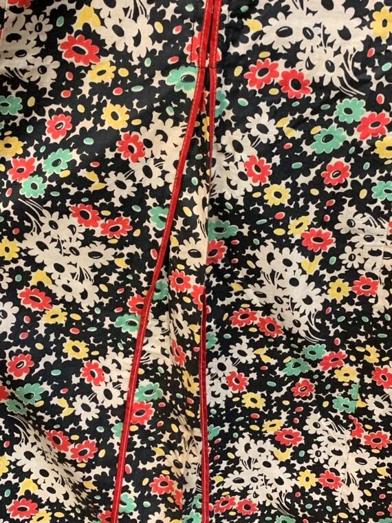 Vintage 1930's Black Floral Cotton Dress, Vintage… - image 8