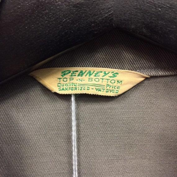 "Vintage 1950's ""Penney's"" Patch Pocket Workwear J… - image 7"
