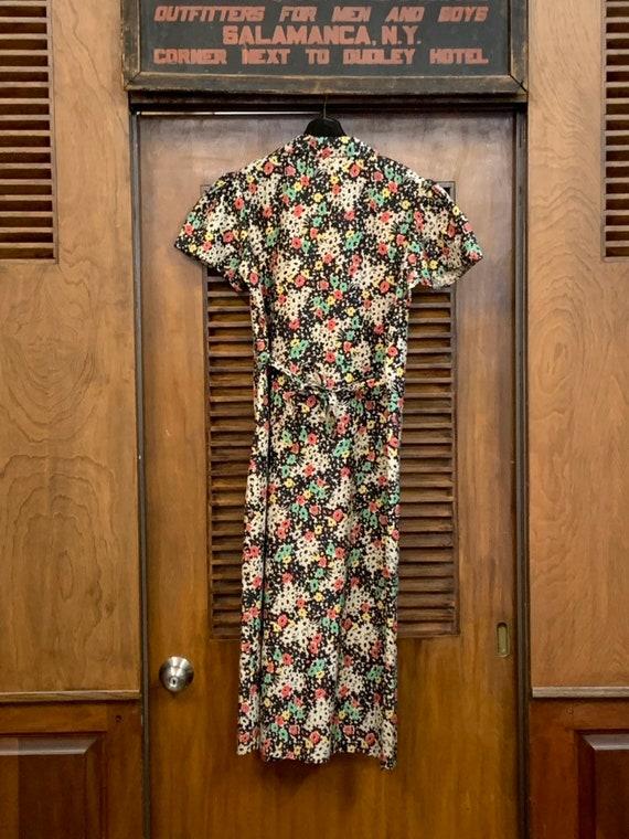 Vintage 1930's Black Floral Cotton Dress, Vintage… - image 7
