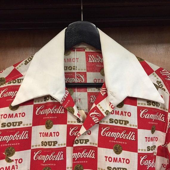 Vintage 1960's Campbell's Soup Pop Art Shirt Warh… - image 6