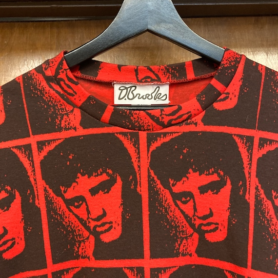 Vintage 1980's Elvis Presley Warhol Style Cotton … - image 7