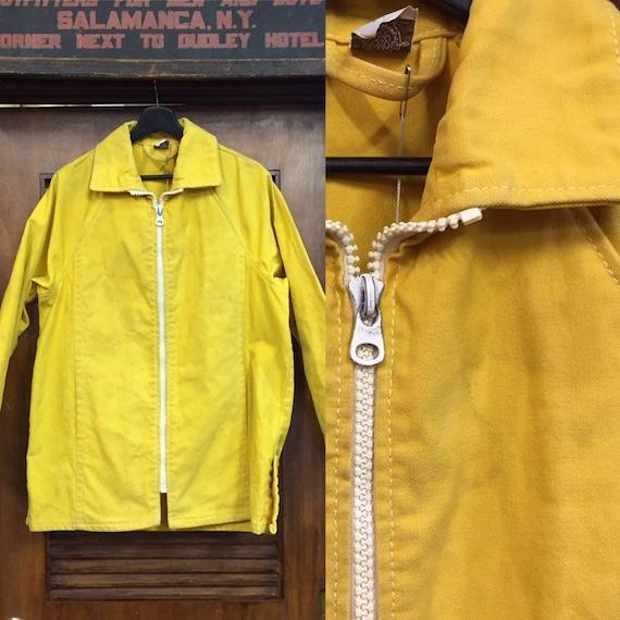 Vintage 1960's Canvas Zipper Jacket, Workwear, Bea
