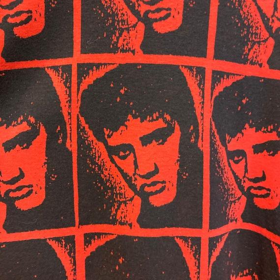Vintage 1980's Elvis Presley Warhol Style Cotton … - image 6