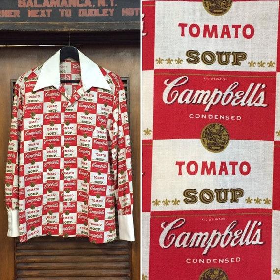 Vintage 1960's Campbell's Soup Pop Art Shirt Warho