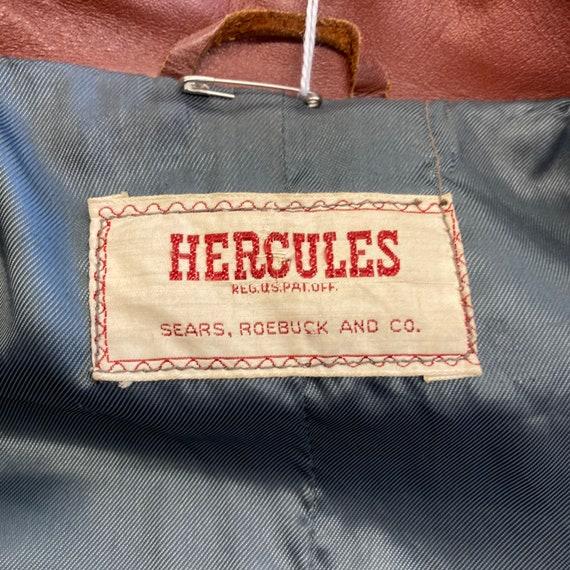 "Vintage 1940's ""Hercules"" Label Workwear Style Le… - image 9"