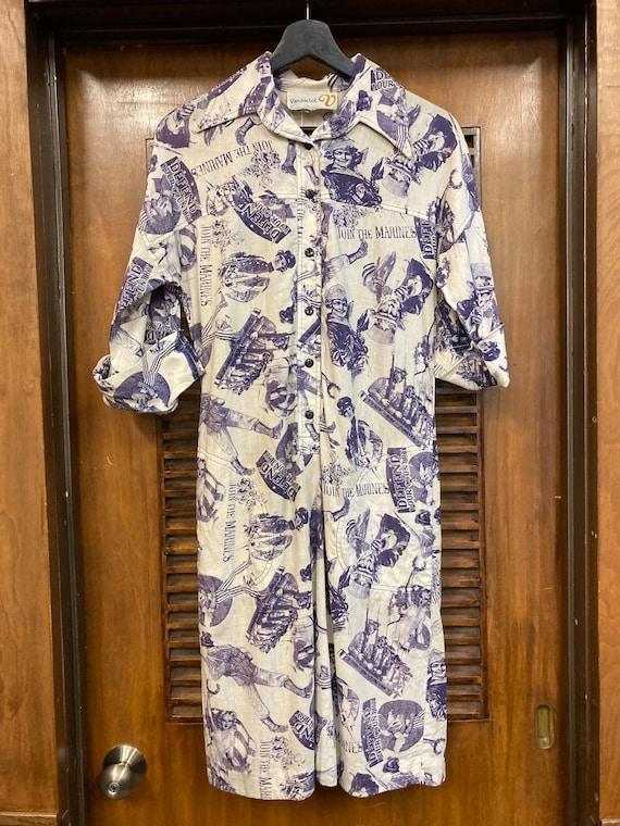 Vintage 1960s Pop Art Print Patriotic Dress, Vint… - image 2