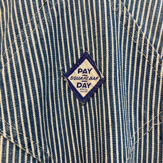 """Vintage 1940's """"Pay Day"""" Hickory Stripe Workwear … - image 9"""