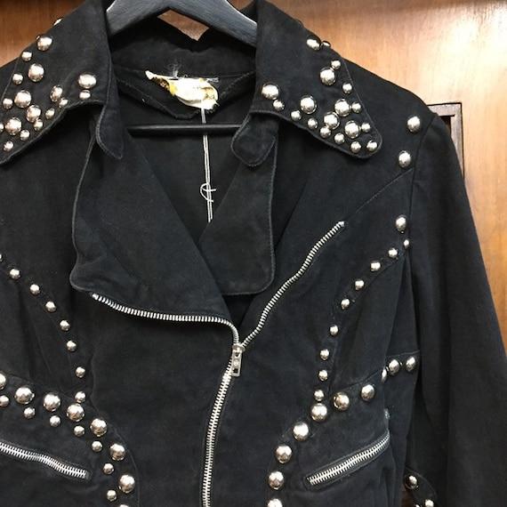 Vintage 1960's Black Studded Roncelli Denim Glam … - image 6