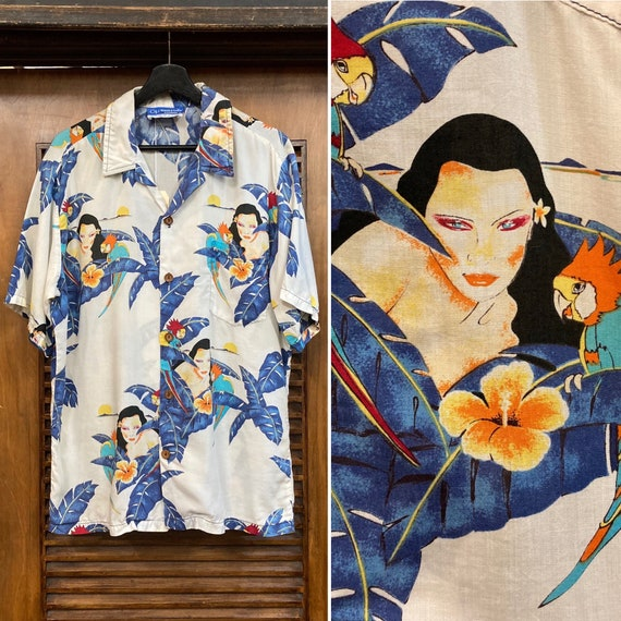 """Vintage 1980's """"Ocean Pacific"""" Hula Girl Print Haw"""