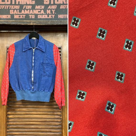Vintage 1960's Denim Pullover Shirt Jacket with Co