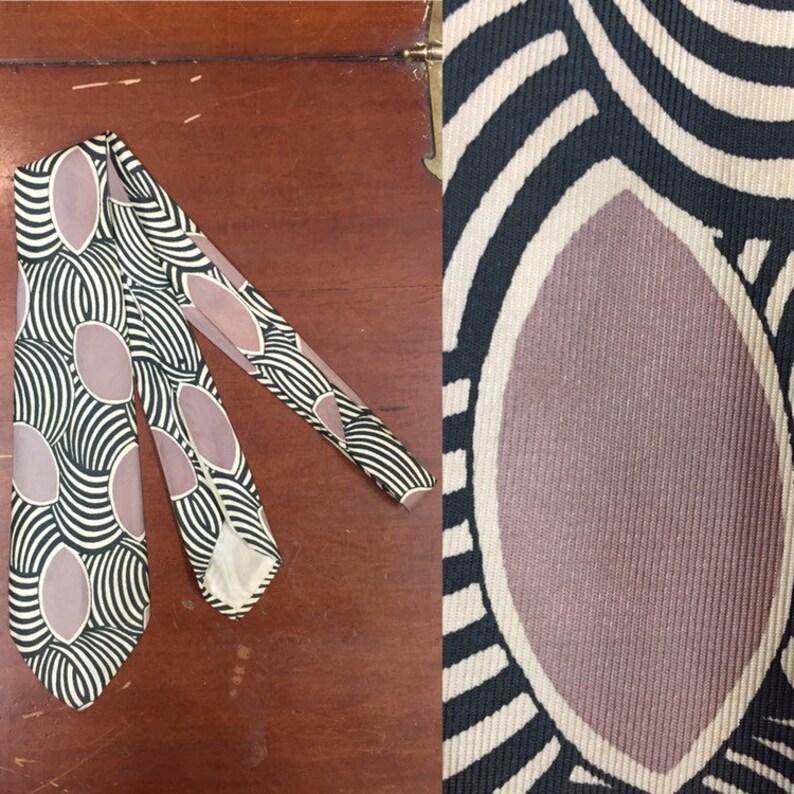 Vintage 1940s,Geometric 1950s Tie Vintage Tie Rockabilly Swing Tie Abstract Print Vintage Clothing 1940s Tie Vintage Shirt