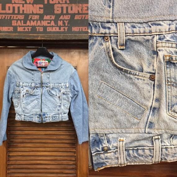 """Vintage 1980's """"Danny First"""" Patchwork Denim Jacke"""