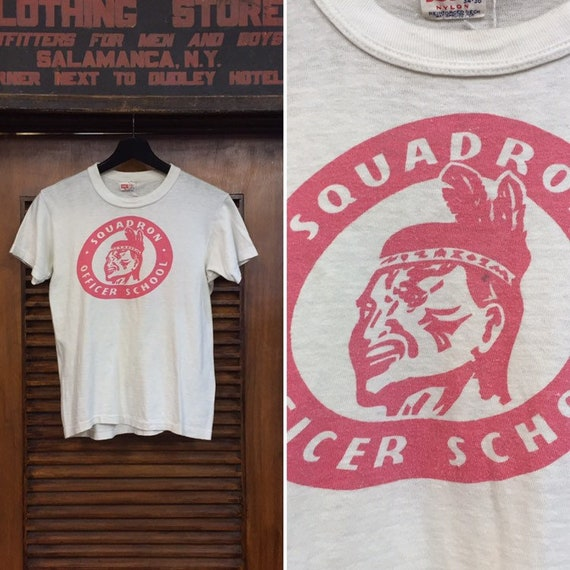 Vintage 1950's Squadron Officer School Tee, Vintag