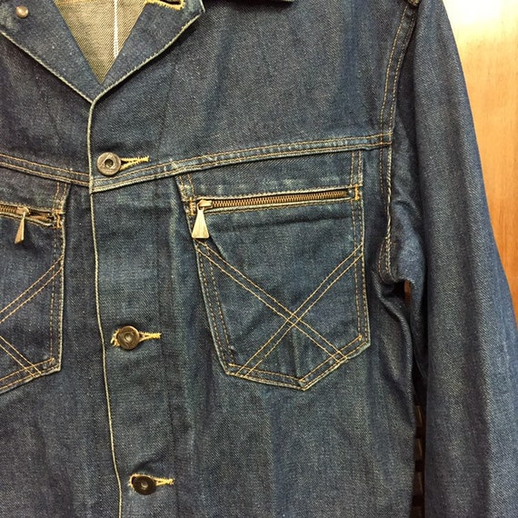 """Vintage 1950's """"Roy Rogers"""" Branded Button Denim … - image 8"""