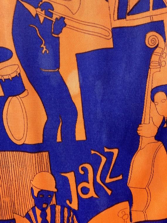 Vintage 1960's Jazz Music Pop Art Dress, Vintage … - image 5