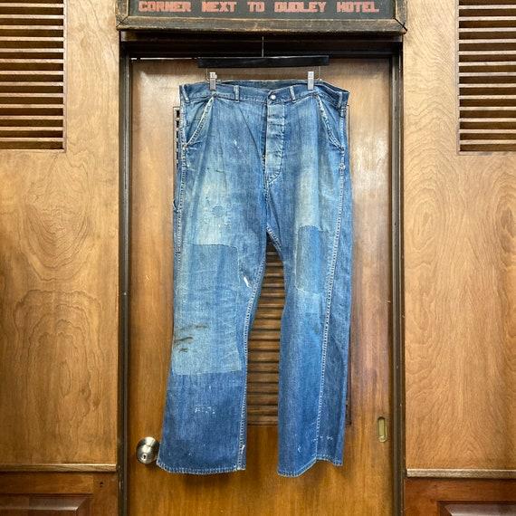 Vintage 1940's Button Front Carpenter Jeans Farm … - image 2