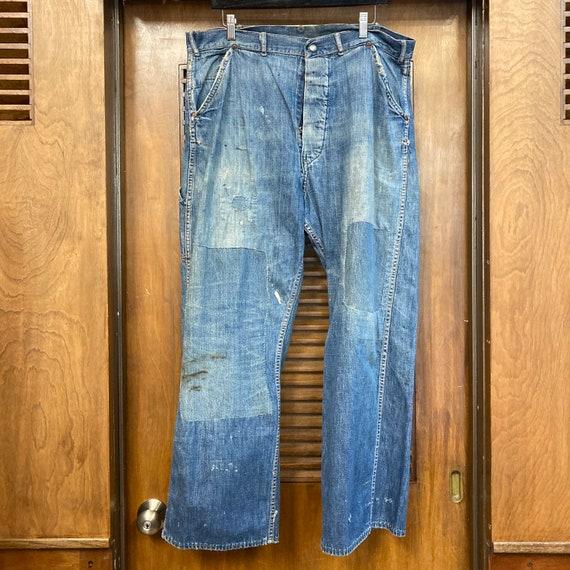 Vintage 1940's Button Front Carpenter Jeans Farm … - image 3