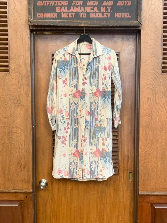 Vintage 1930's Floral Cotton Duster Coat, Vintage… - image 2