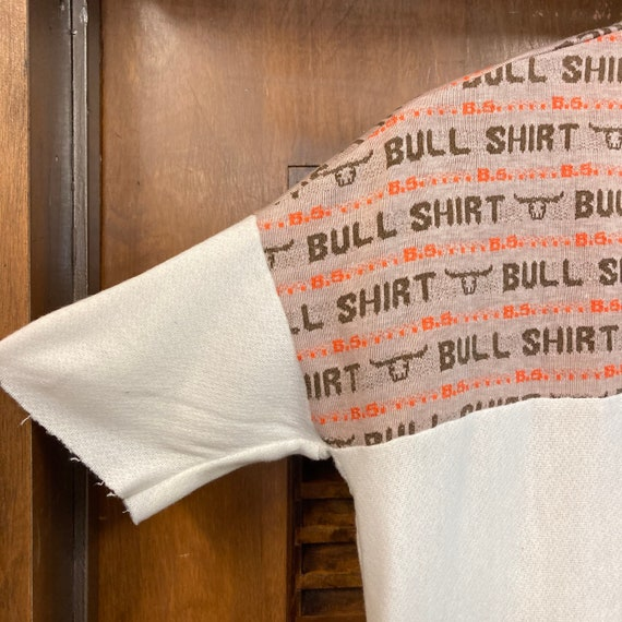 Vintage 1960's Bull Shirt Pop Art Top, 60's Top, … - image 5