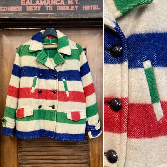 Vintage 1950's Hudson Bay Style Peacoat Jacket, 50