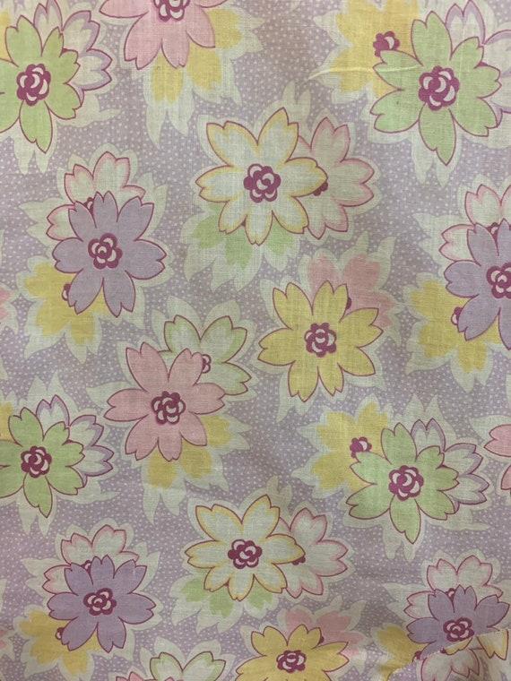 Vintage 1930's Floral Print Cotton Day Dress, Vin… - image 6