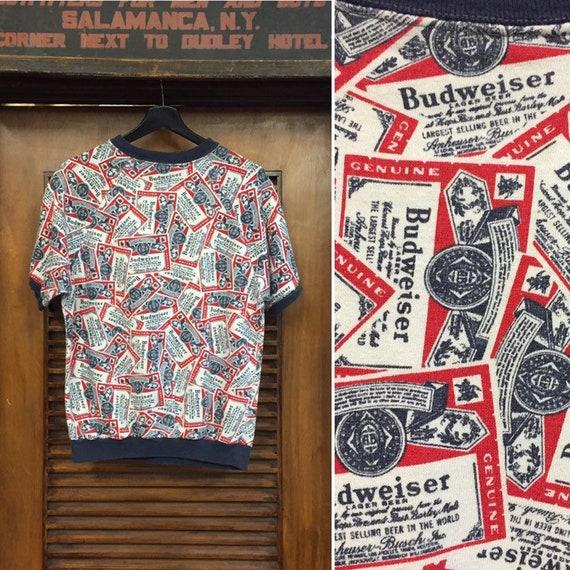 Vintage 1960's Budweiser Pop Art Short Sleeve Swea
