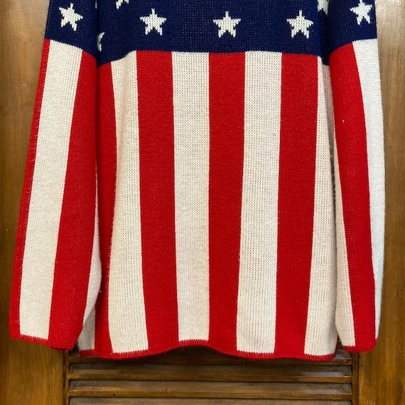 Vintage 1960's American Flag Pop Art Sweater, 60'… - image 7