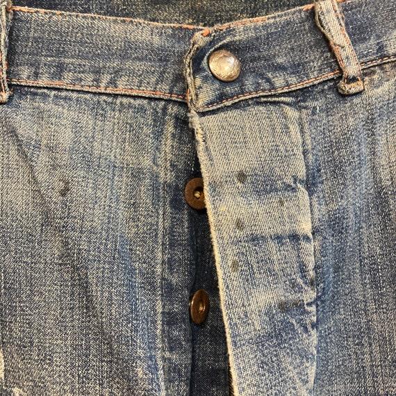 Vintage 1940's Button Front Carpenter Jeans Farm … - image 6