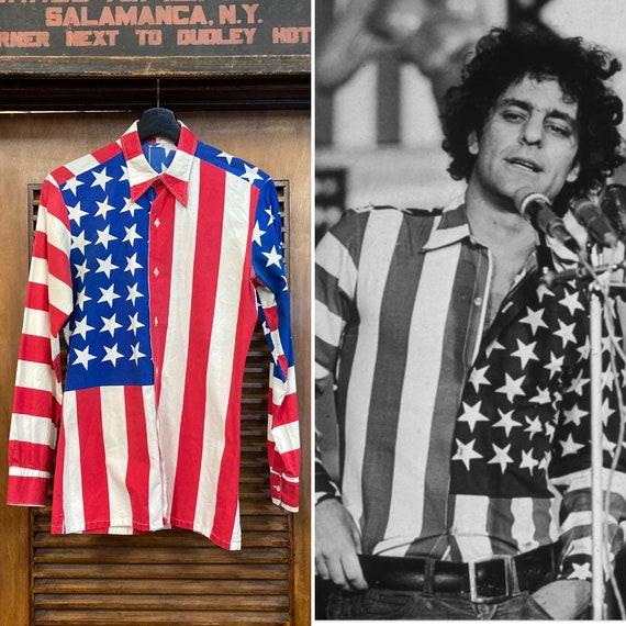 Vintage 1960's American Flag Abbie Hoffman Pop Ar… - image 1