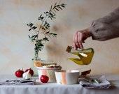 Set of 2 Salmorejo my way. Handmade ceramic bowls for Salmorejo. Bowls and plates for tomato soup. Mediterranean ceramics. Housewarming gift