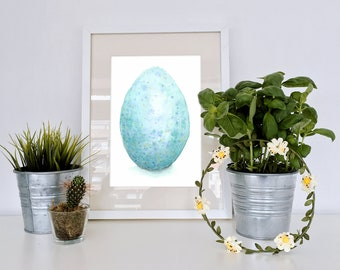 Dragon Egg, Original Watercolor Painting, Illustration