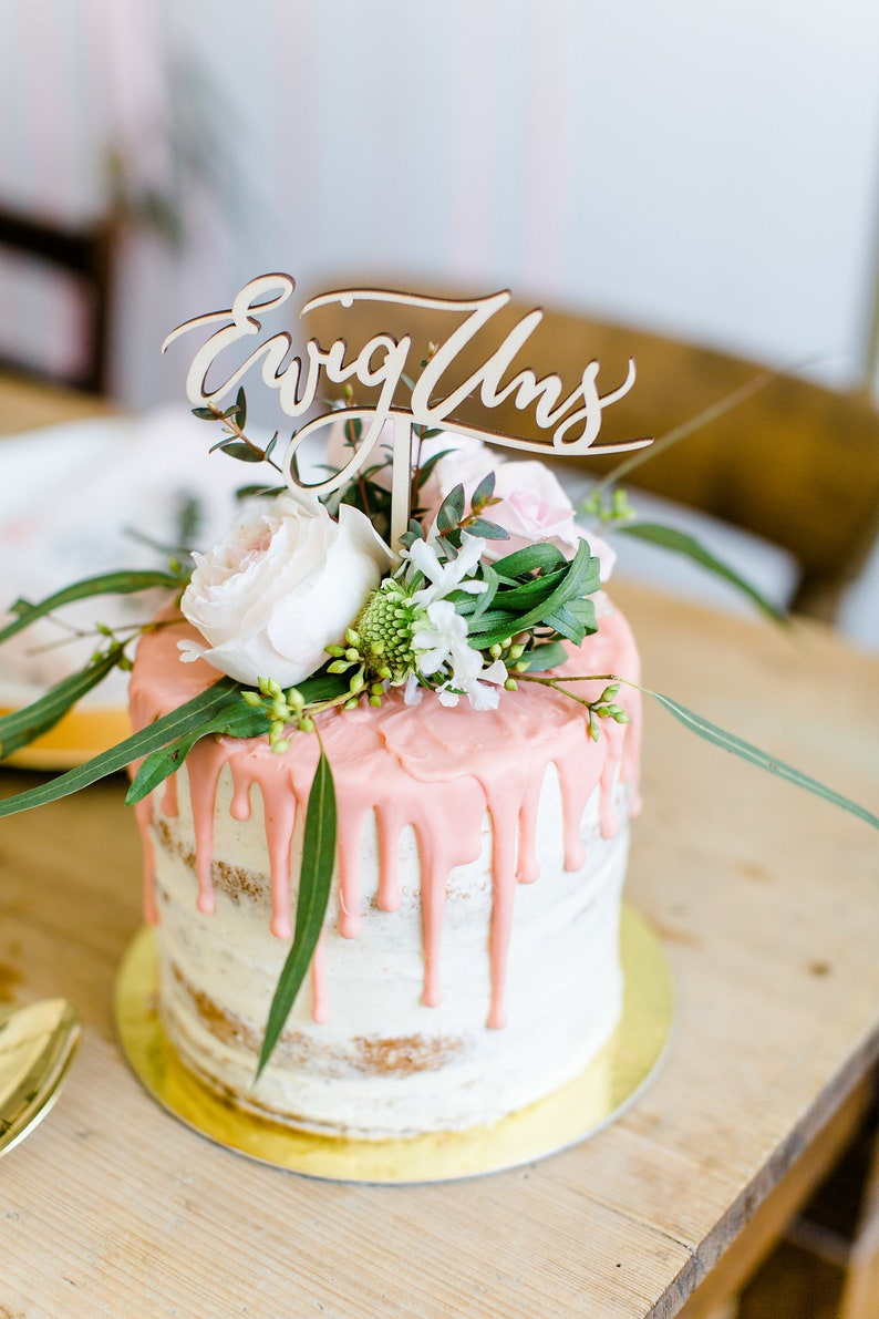 "Cake Topper ""Ewig Uns"""
