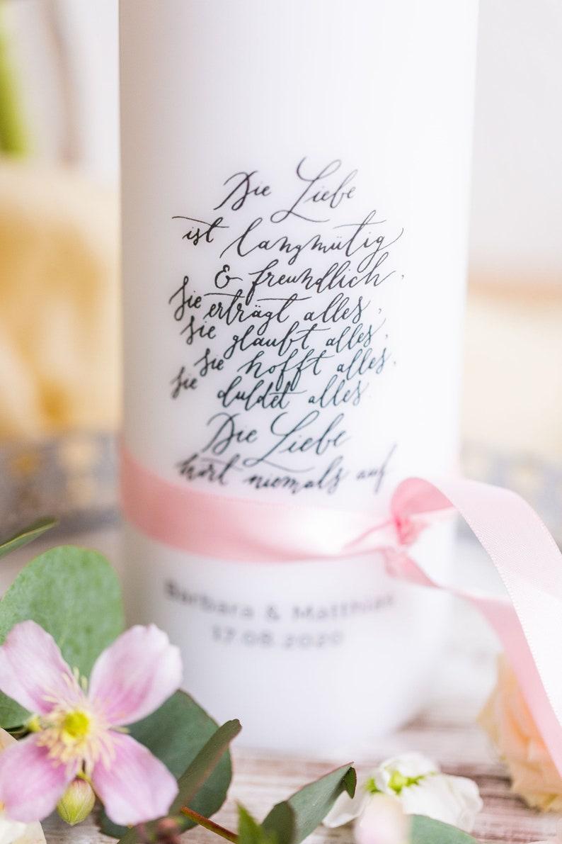Hochzeitskerze |Traukerze
