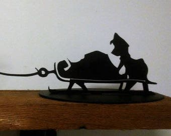 Grinch & Max Metal Holiday Sled Christmas Decoration Decor How Stole