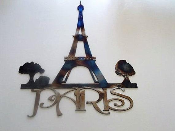 Eiffel Tower Metal Paris Wall Art Hanging Artwork French | Etsy