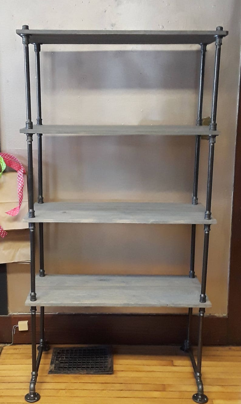 Admirable 4 Tier Industrial Pipe Wood Large Freestanding Shelf 72 Varying Width W 16 Deep Shelves Repurpose Repurposed Rustic Home Interior And Landscaping Oversignezvosmurscom