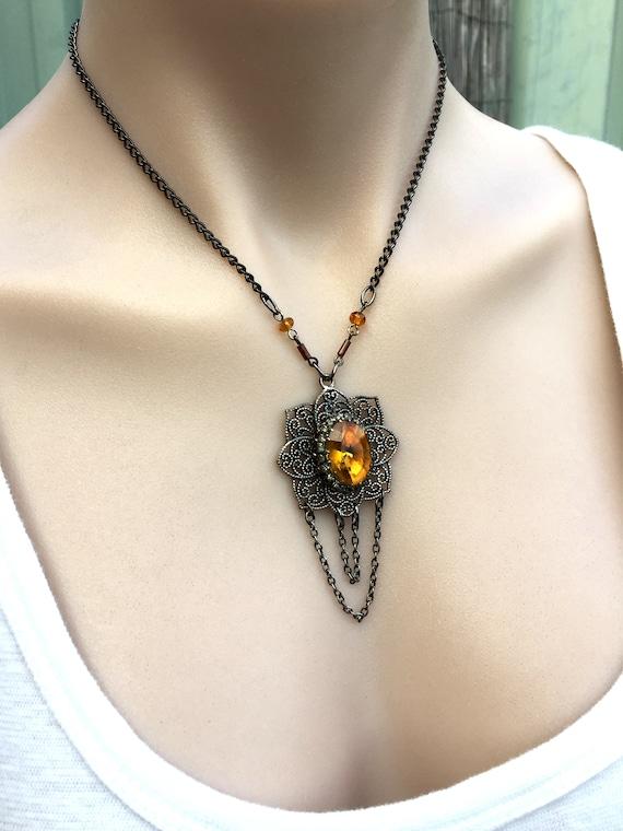 Vintage Necklace - 60s Vintage - 60s Necklace - Am