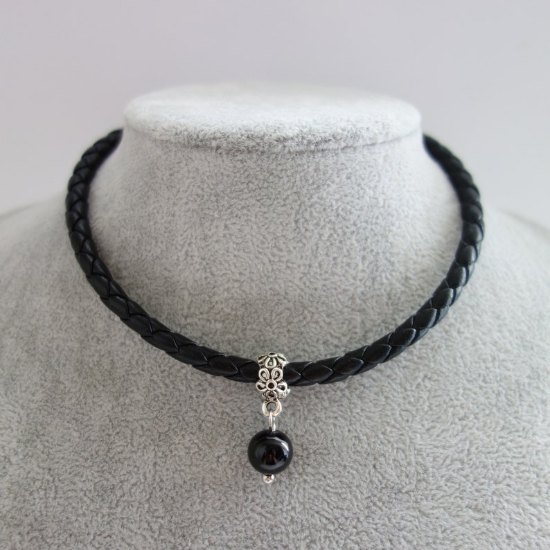 Bohemian Thick Leather Choker Boho Jewelry Medallion Charm Black Suede Necklace Gift For Her Vintage Jewelry Victorian Gothic Necklace