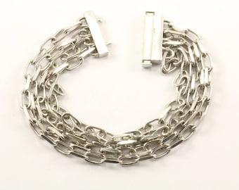 Vintage Italy 4 Chains Bracelet 925 Sterling BR 2210
